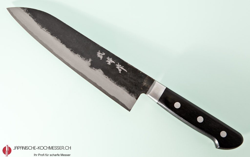 takeo murata aogami 1 santoku 180mm japanische. Black Bedroom Furniture Sets. Home Design Ideas