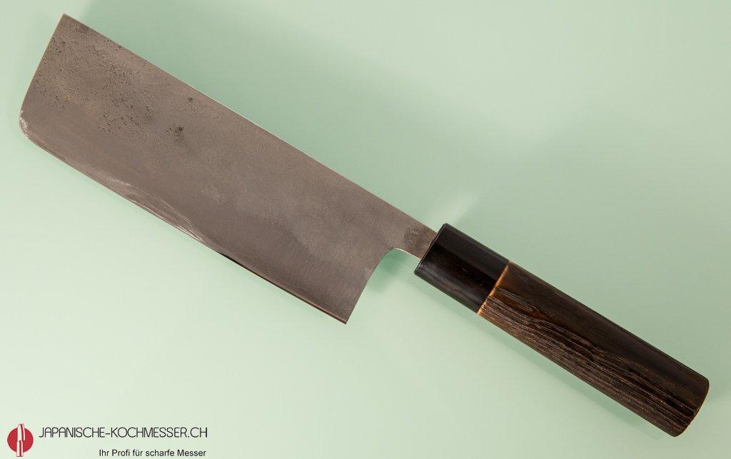 handgeschmiedetes gem semesser goko hamono shirogami 1 nakri 165mm nashiji japanische. Black Bedroom Furniture Sets. Home Design Ideas