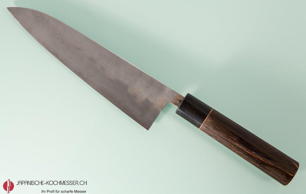 fleischmesser chefmesser goko hamono shirogami 1 gyuto 210mm nashiji japanische. Black Bedroom Furniture Sets. Home Design Ideas