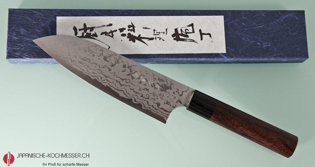 damastmesser santokumesser shirou kamo shirogami 2 santoku 170mm g 3 damast messer handgefertigt. Black Bedroom Furniture Sets. Home Design Ideas
